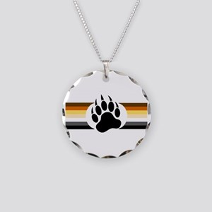 Gay Bear Pride Stripes Bear Paw Necklace