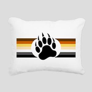 Gay Bear Pride Stripes Bear Paw Rectangular Canvas