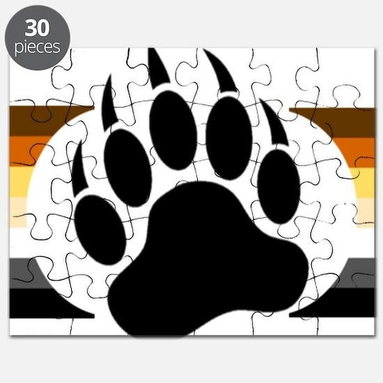Gay Bear Pride Stripes Bear Paw Puzzle