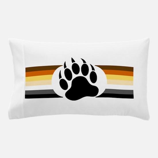 Gay Bear Pride Stripes Bear Paw Pillow Case