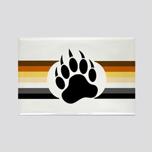 Gay Bear Pride Stripes Bear Paw Magnets