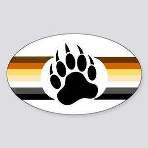 Gay Bear Pride Stripes Bear Paw Sticker