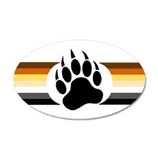 Gay Bear Pride Stripes Bear Paw Wall Decal