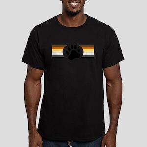 Gay Bear Pride Stripes Bear Paw T-Shirt
