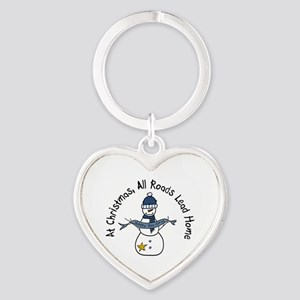 At Christmas All Roads Lead Home Keychains