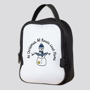 At Christmas All Roads Lead Home Neoprene Lunch Ba