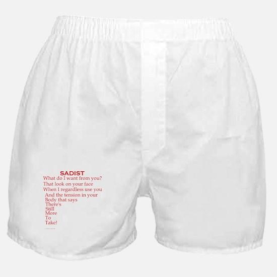 Sadist Poem Boxer Shorts