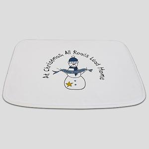At Christmas All Roads Lead Home Bathmat