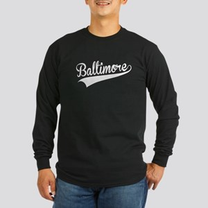 Baltimore, Retro, Long Sleeve T-Shirt