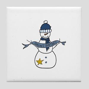 SEASONS CHRISTMAS Tile Coaster