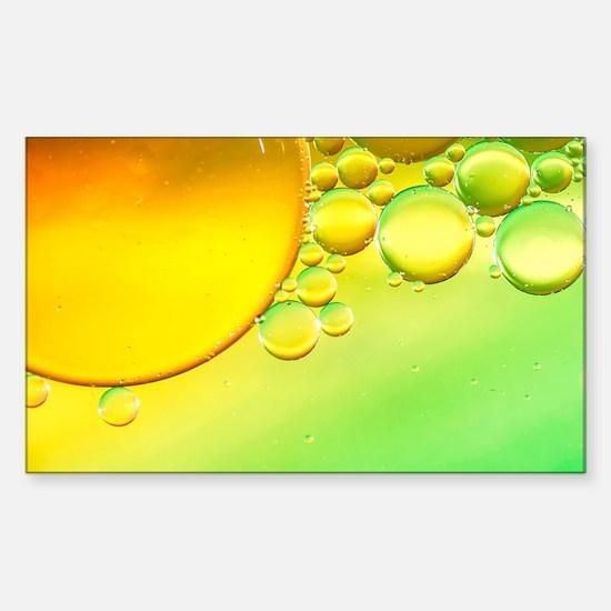 Abstract Sun Bubbles Sticker (Rectangle)