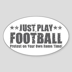Just Play Football Sticker