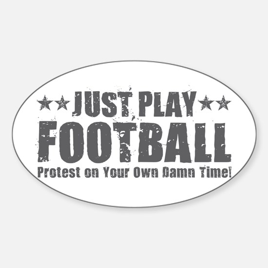 Just Play Football Decal