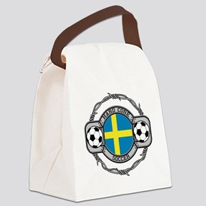 Sweden Soccer Canvas Lunch Bag