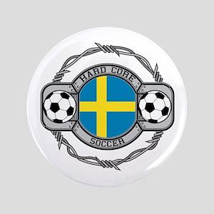 "Sweden Soccer 3.5"" Button"