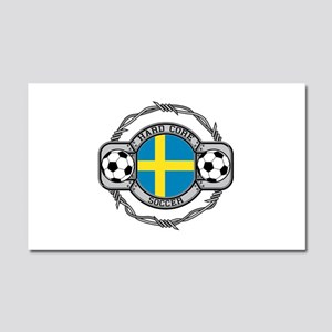 Sweden Soccer Car Magnet 20 x 12