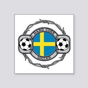 "Sweden Soccer Square Sticker 3"" x 3"""