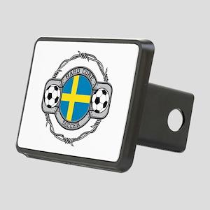 Sweden Soccer Rectangular Hitch Cover