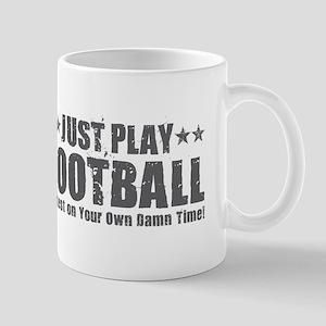 Just Play Football Mugs