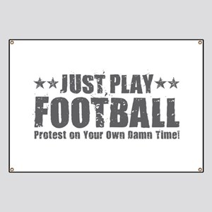 Just Play Football Banner