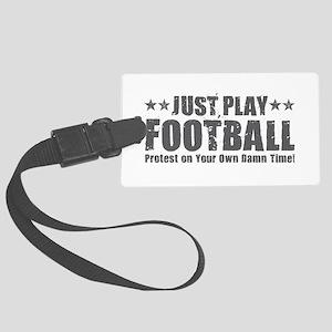 Just Play Football Large Luggage Tag