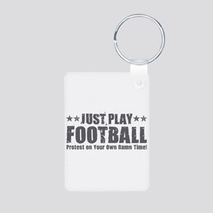 Just Play Football Keychains