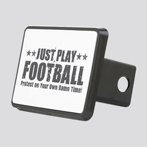 Just Play Football Rectangular Hitch Cover