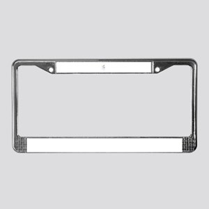Snowman With A Broom License Plate Frame