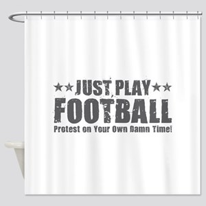 Just Play Football Shower Curtain