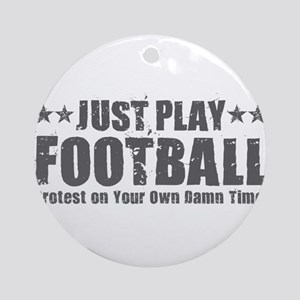 Just Play Football Round Ornament