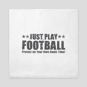 Just Play Football Queen Duvet