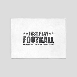 Just Play Football 5'x7'Area Rug