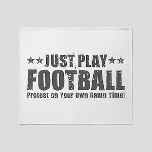 Just Play Football Throw Blanket