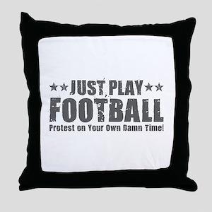 Just Play Football Throw Pillow