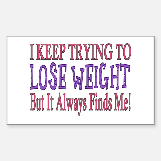 ...Trying To Lose Weight... Rectangle Decal