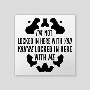 Rorschach Locked In Watchmen Quote Sticker