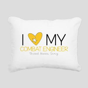 I Love My Combat Rectangular Canvas Pillow
