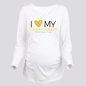 I Love My Combat Long Sleeve Maternity T-Shirt