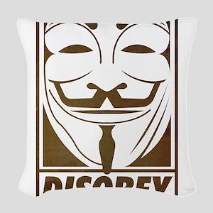 disobey Woven Throw Pillow