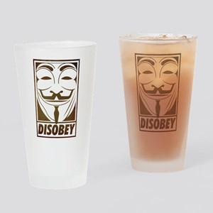 disobey Drinking Glass
