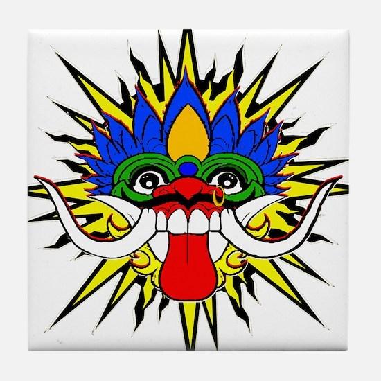 Bali mask Tile Coaster