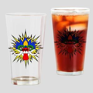 Bali mask Drinking Glass