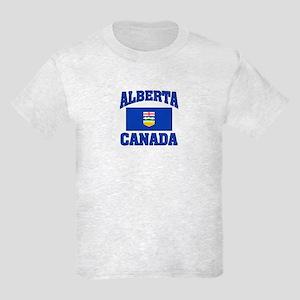 Alberta Canada Flag Kids Light T-Shirt
