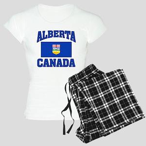 Alberta Canada Flag Women's Light Pajamas