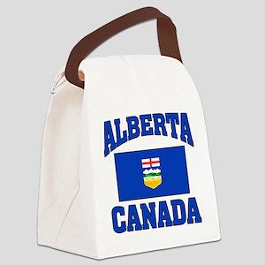 Alberta Canada Flag Canvas Lunch Bag