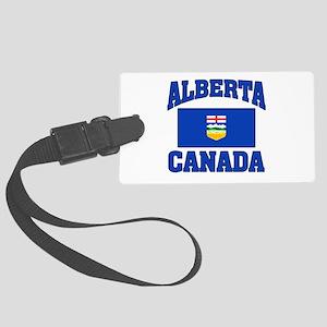 Alberta Canada Flag Large Luggage Tag