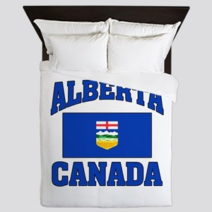Alberta Canada Flag Queen Duvet