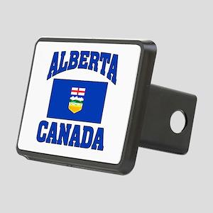 Alberta Canada Flag Rectangular Hitch Cover