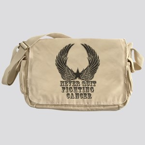 Never Quit Fighting Cancer Messenger Bag