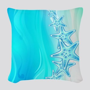 Starfish Woven Throw Pillow